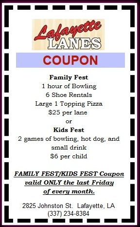Lafayette lanes coupons